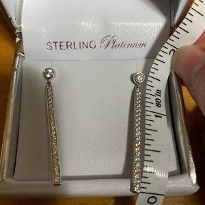 Crislu Jewelry - NIB Crislu cz and sterling platinum earrings